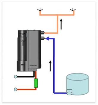 Одно устройство подогрева омывающей жидкости