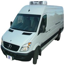 Фургон с установленным рефрижератором Kingtec S293